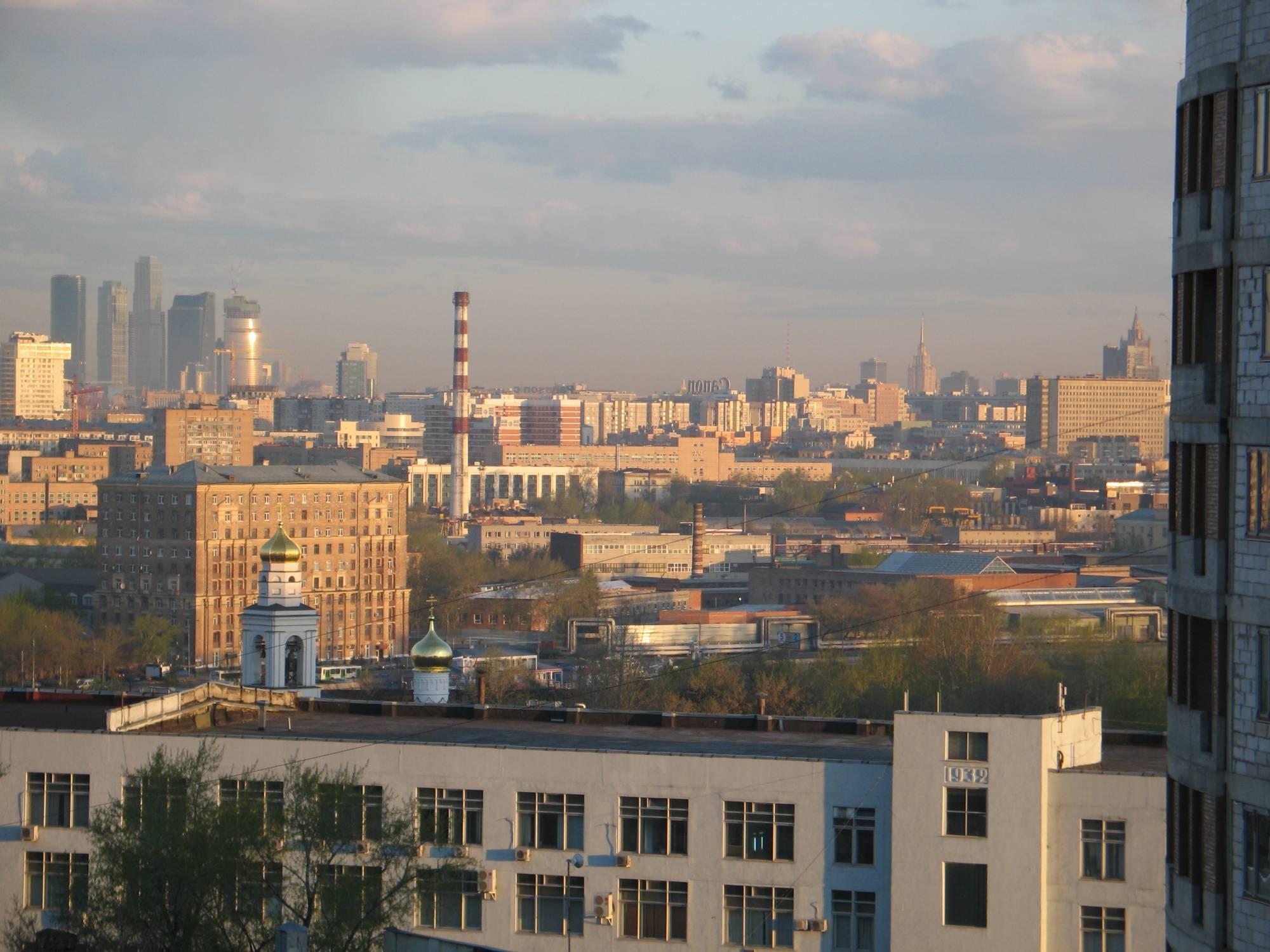 Фото из окна москвы